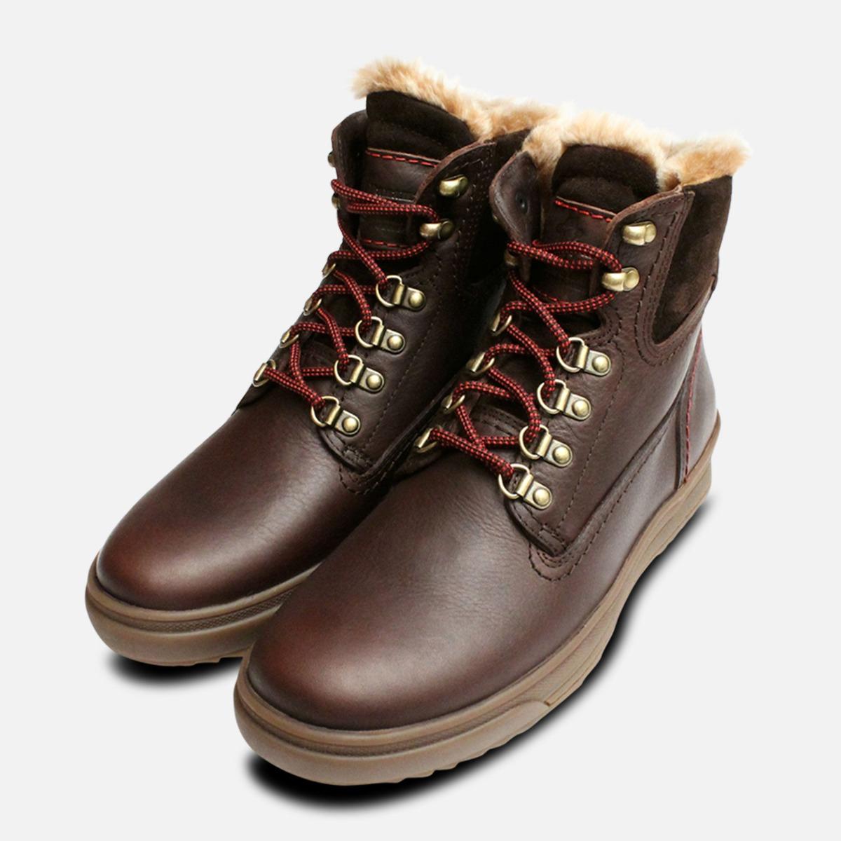 5f7f1df49c10d8 Fur Lined Brown Urban Trekker Panama Jack Boots