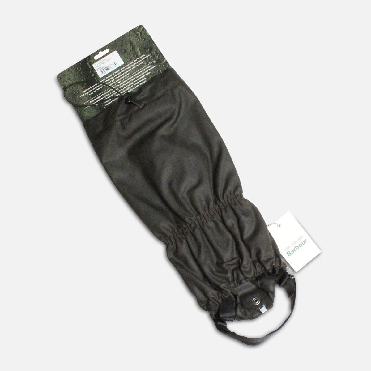 Waterproof Barbour Gaiters in Dark Waxy Green Cotton