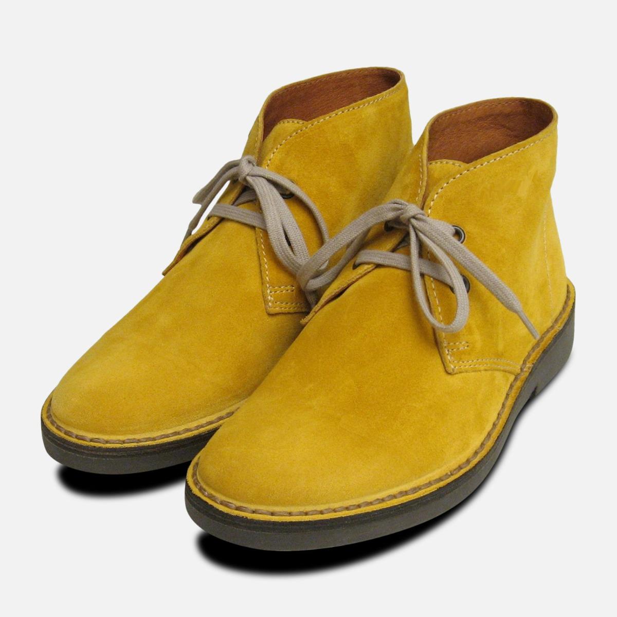 Mustard Yellow Suede Italian Desert