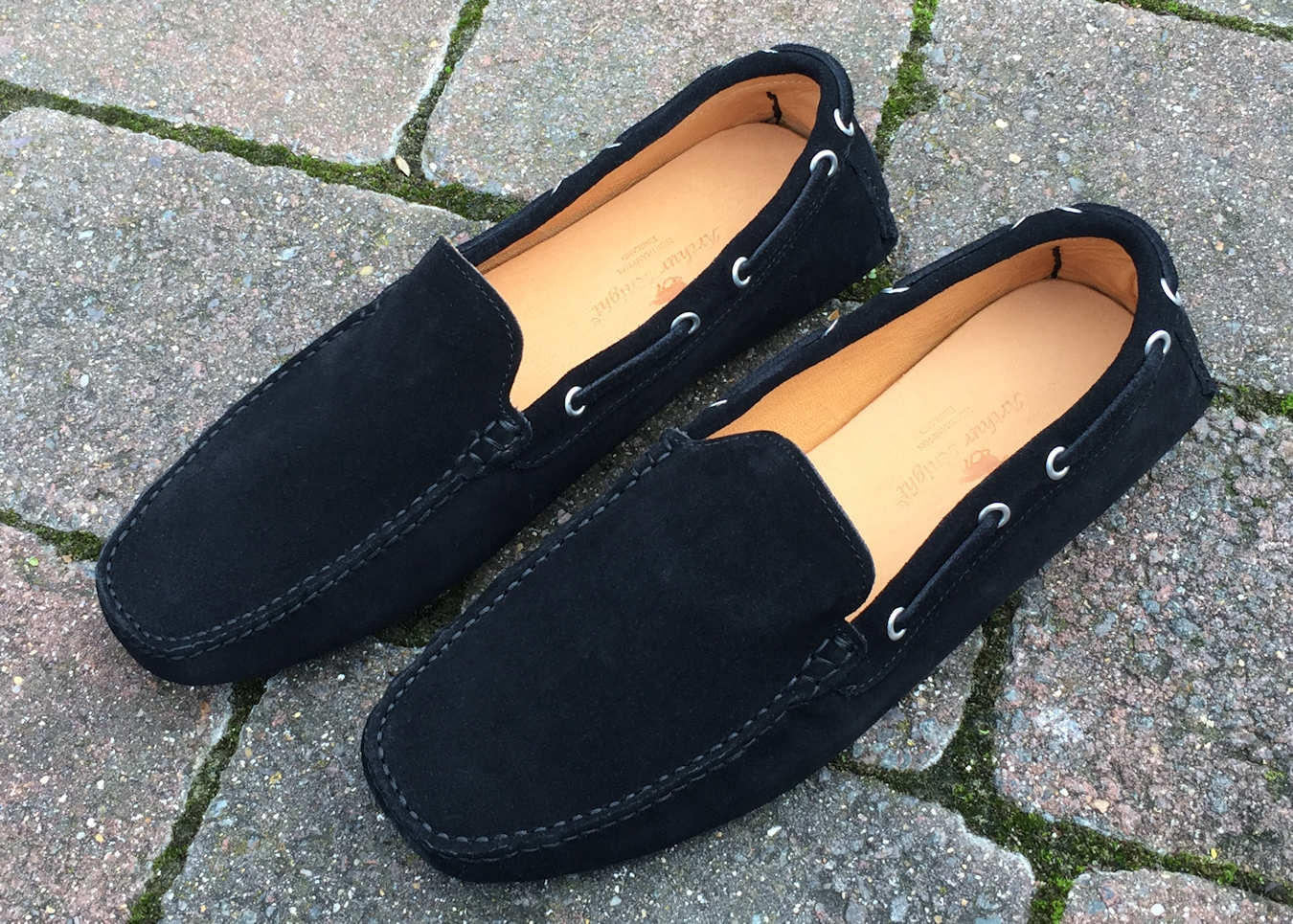 Black Suede Mens Moccasin Made in Italy