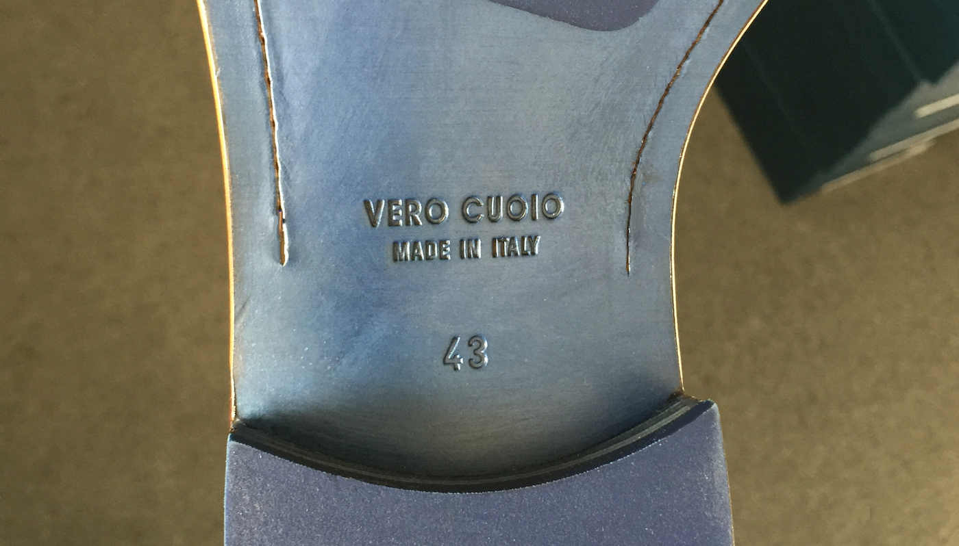 Vero Cuoio on Shoe Sole