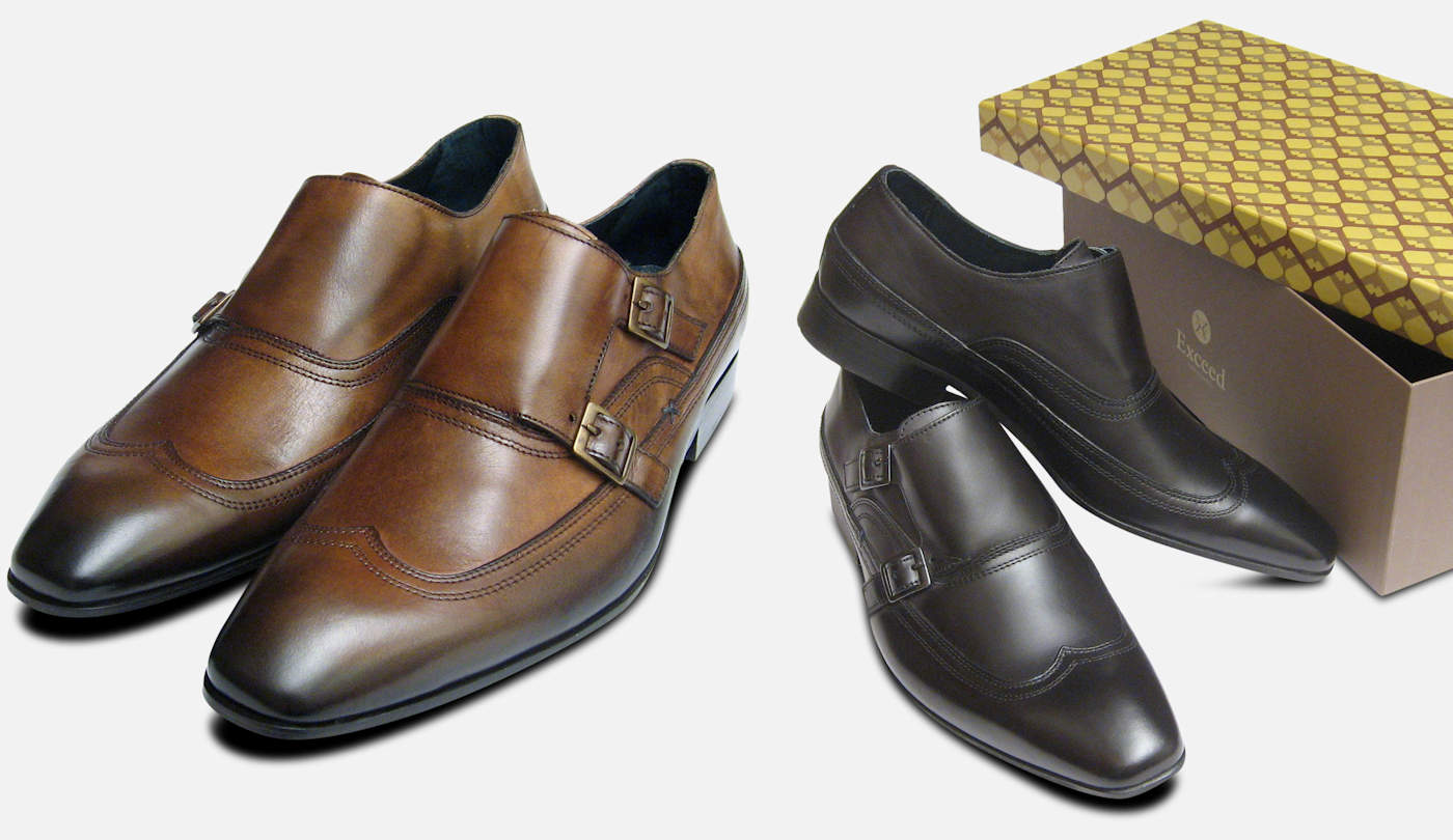 Two Strap Monk Strap Dress Shoes