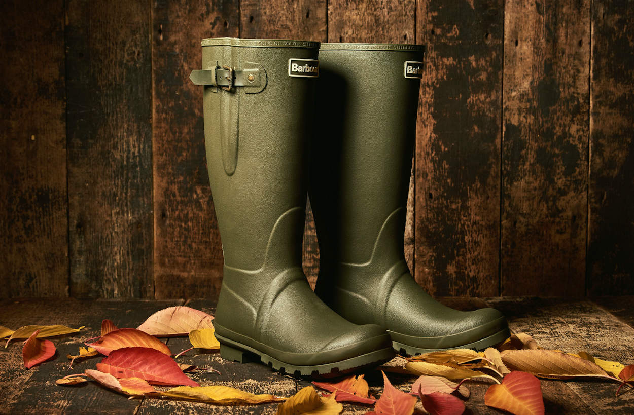 Barbour Olive Bede Welly